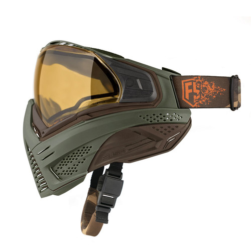 First Strike Push Unite Paintball Mask - Olive/Brown