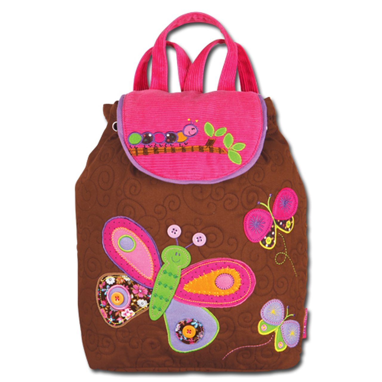 Butterfly Embroidered Kid/'s Backpack by Stephen Joseph