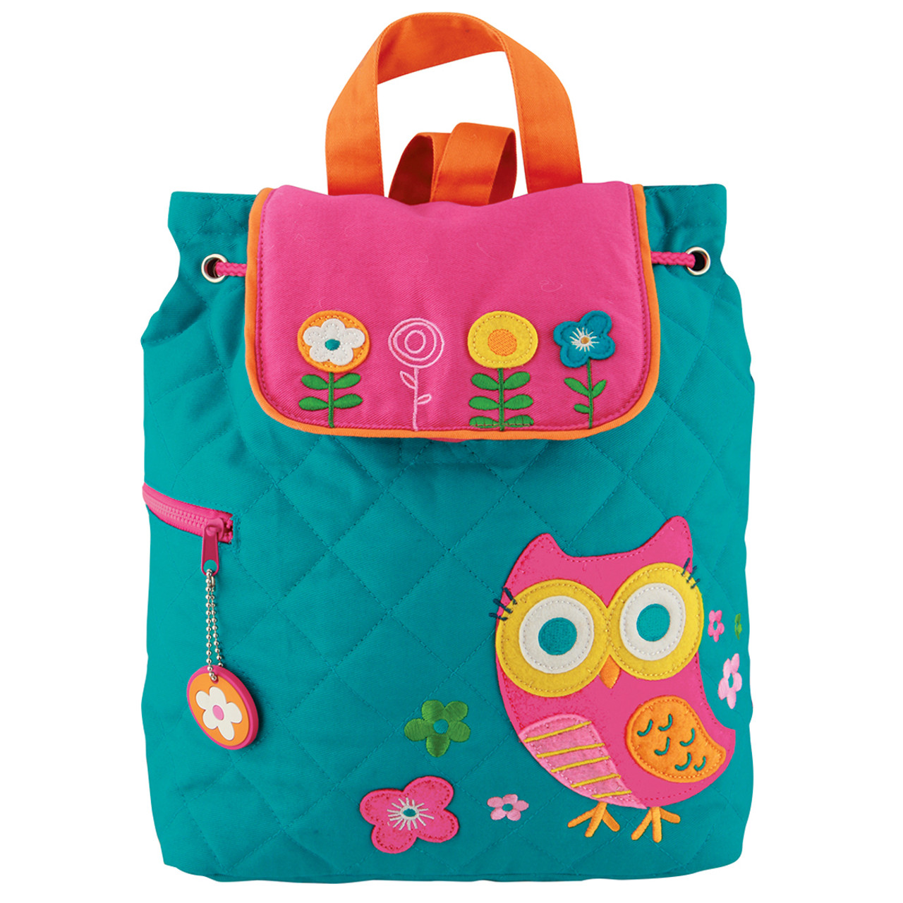 Stephen Joseph Quilted Teal Owl Backpack
