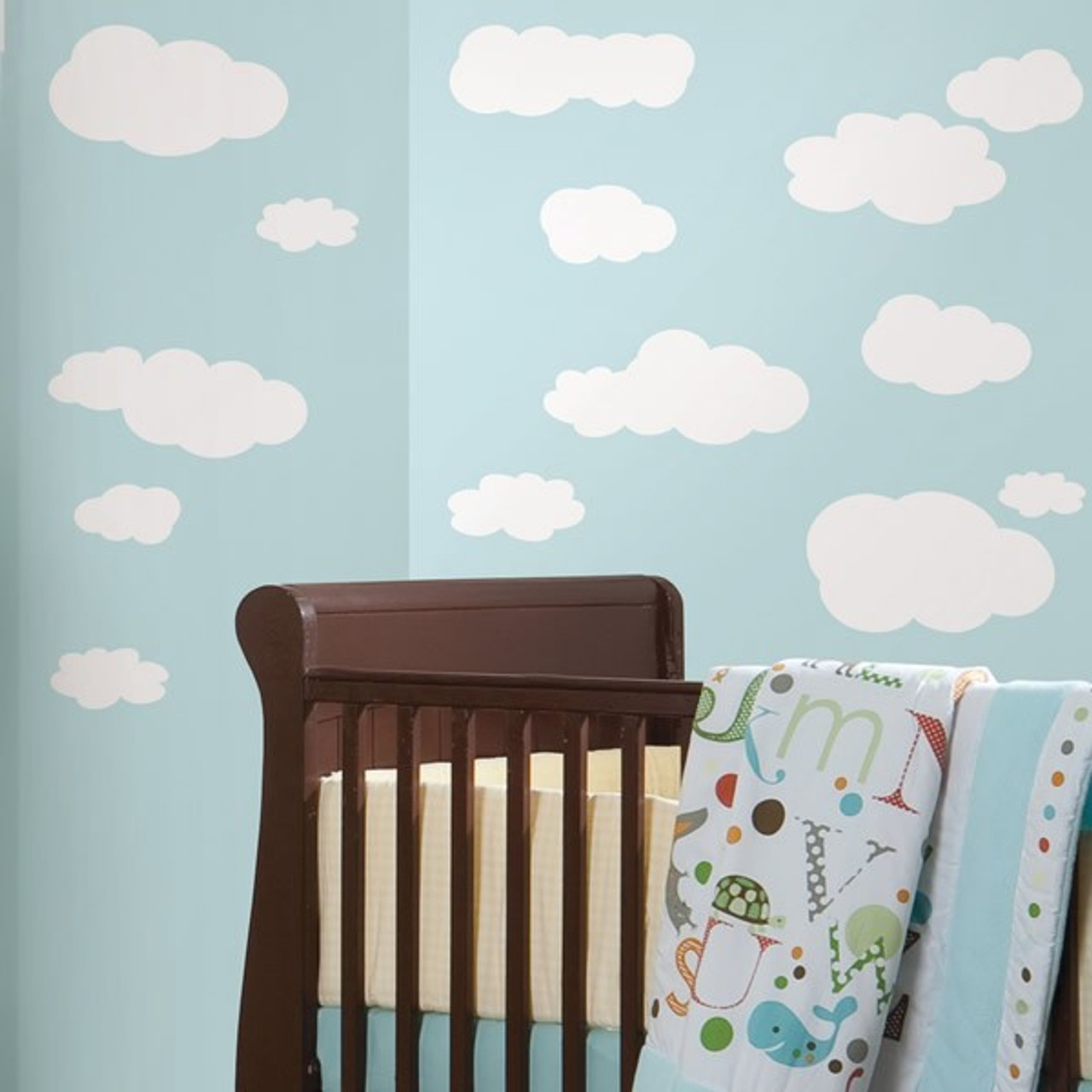 roommates white clouds wall stickers