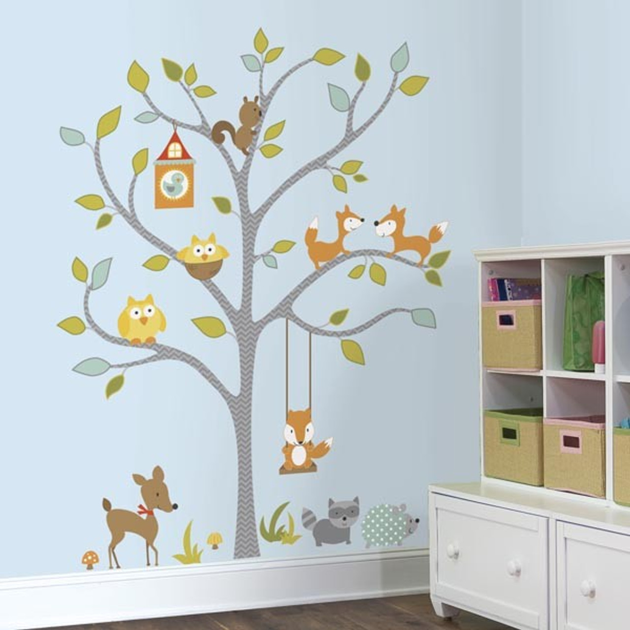 225 & Woodland Fox and Friends Giant Tree Wall Stickers