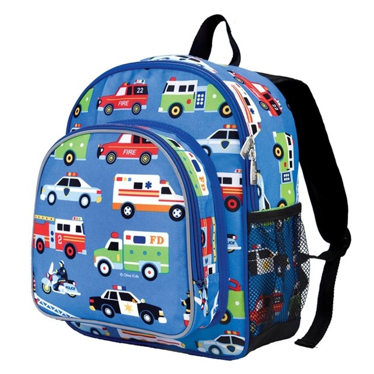 Wildkin Toddler Backpack - Action Vehicles 204ba15ed3b82