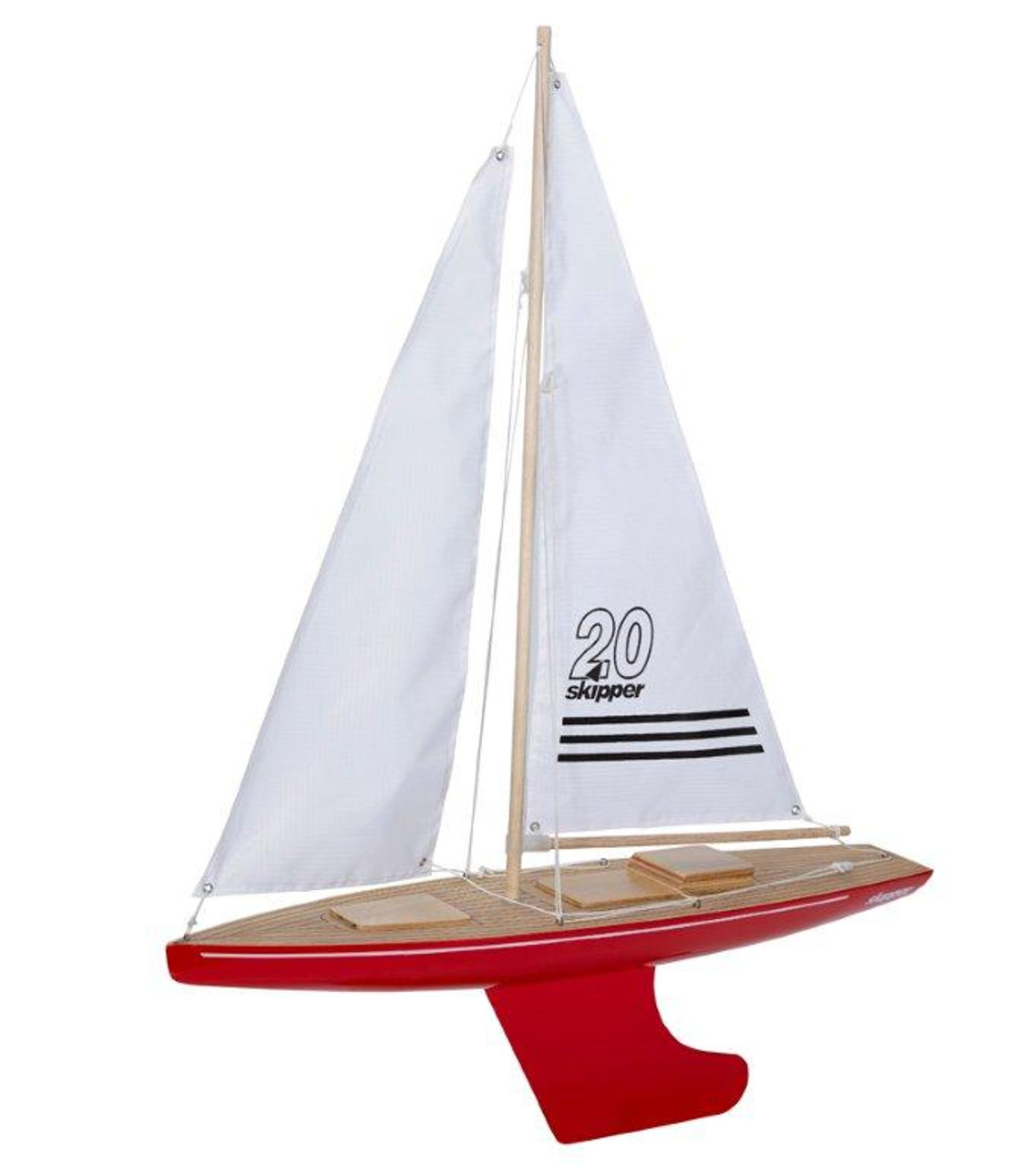 Skipper Pond Yacht - Offshore Red - 20 inch