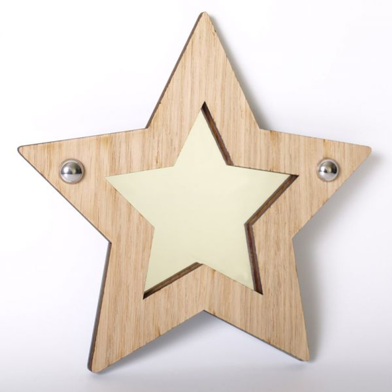 Childrens Mirrors - Star Wood Framed Mirror