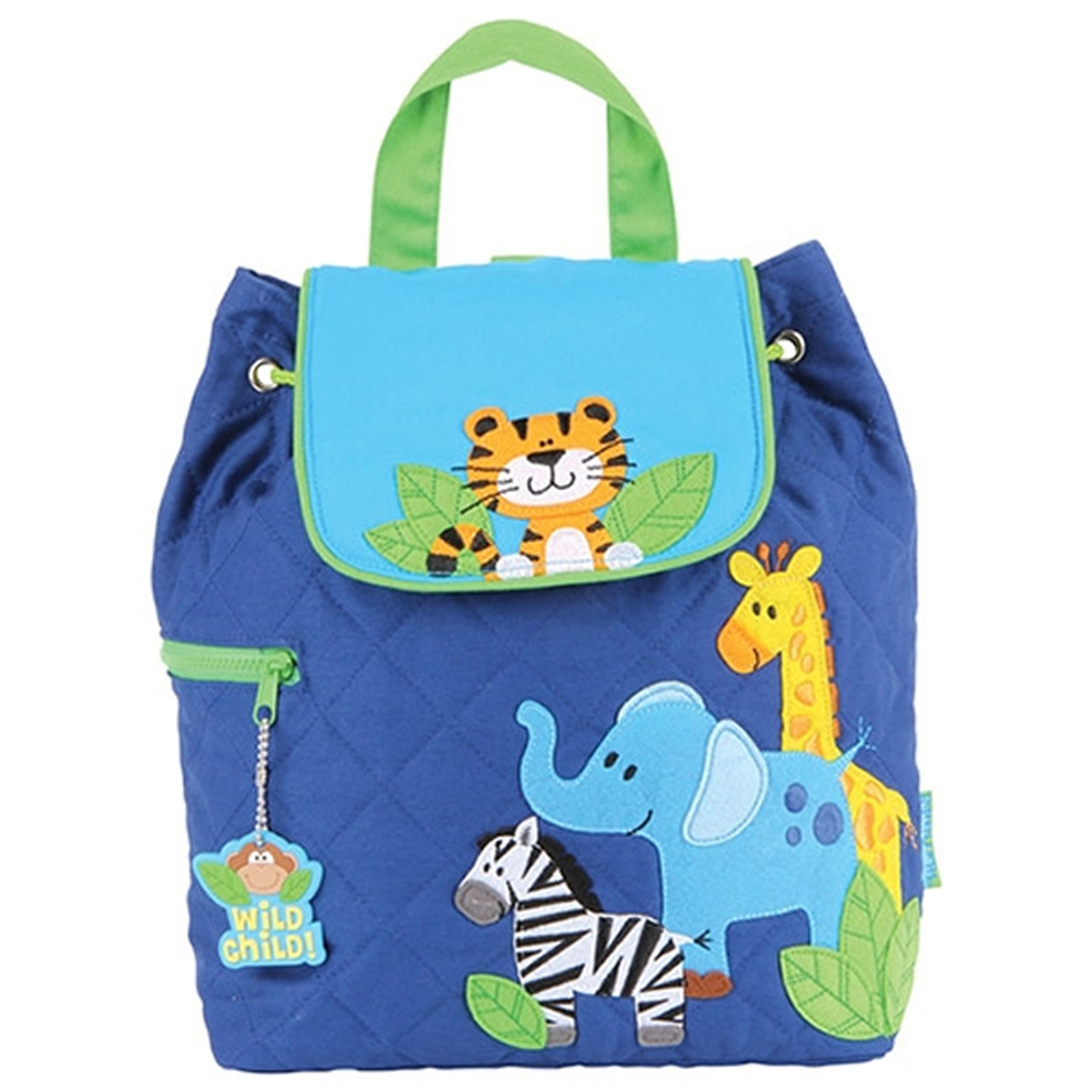 Stephen Joseph Quilted Backpack Boy Zoo -