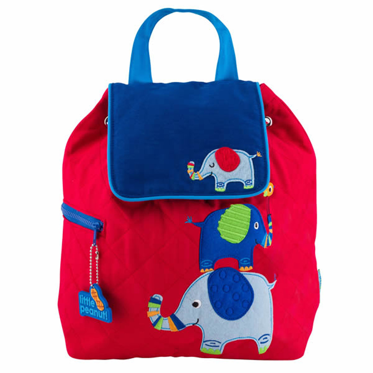Stephen Joseph Quilted Backpack Blue Elephant