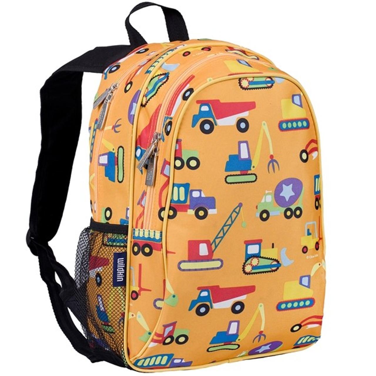 dbd3ba7ab99a Wildkin Olive Kids Backpack with Side Pocket - Construction