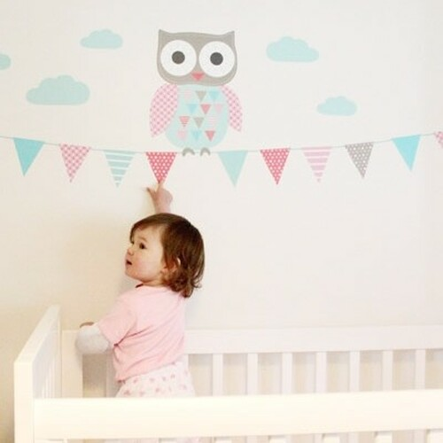 owly wall stickers - forwalls nursery wall stickers