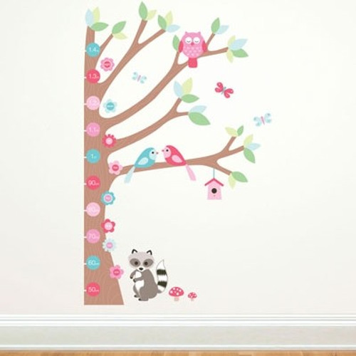 Forest Growth Chart Forwalls Nursery Wall Stickers