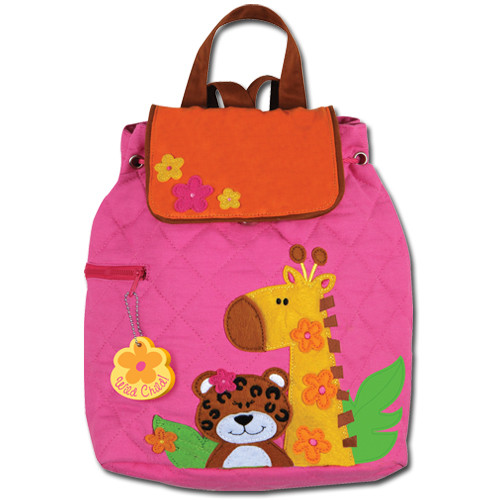 3411c3eb538a Toddler Backpacks - Stephen Joseph Quilted Pink Zoo Backpack