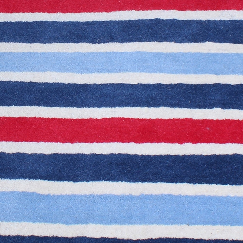 100 Wool Red And White Striped Rug Childrens Rugs