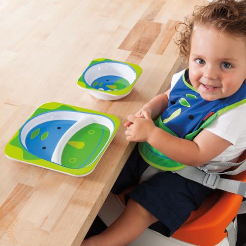 Skip Hop Baby Plate and Bowl Set Dinosaur Melamine