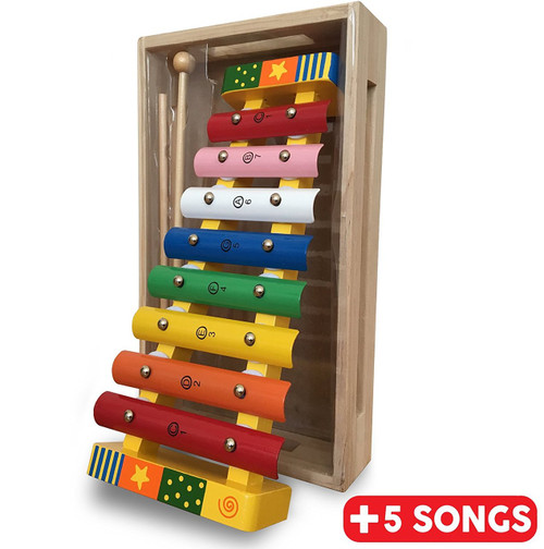 Wooden Xylophone With Song Sheet Bee Smart