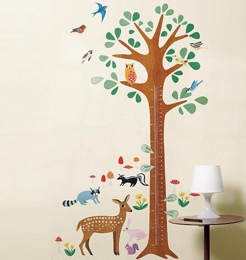 ce7cba81b4a5 Children's Wall Stickers - Wallies - Woodland Growth Chart