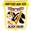 308th Combat Aviation Battalion Patch Black Adler