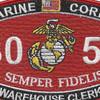 3051 Warehouse Clerk USMC MOS Patch | Center Detail