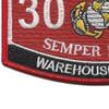 3051 Warehouse Clerk USMC MOS Patch | Lower Left Quadrant