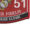 3051 Warehouse Clerk USMC MOS Patch | Lower Right Quadrant