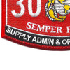 3043 Supply Administrator & Operations Specialist MOS Patch | Lower Left Quadrant