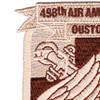 498th Aviation Medical Company Air Ambulance Dustoff Patch   Upper Left Quadrant