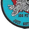 104th Fighter Squadron A-10 Patch - Just Got Ugly | Lower Left Quadrant