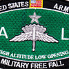 High Altitude Low Opening Parachutist MOS Patch Master HALO | Center Detail