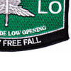 High Altitude Low Opening Parachutist MOS Patch Master HALO | Lower Right Quadrant