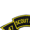 47th Infantry Scout Dog Platoon Patch | Upper Left Quadrant