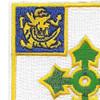 47th Infantry Regiment Patch   Upper Left Quadrant