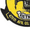 478th Aviation Company Heavy Helicopters Patch | Lower Left Quadrant