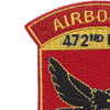 472nd Airborne Field Artillery Battalion Patch Hell From Above   Upper Left Quadrant
