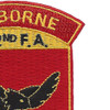 472nd Airborne Field Artillery Battalion Patch Hell From Above   Upper Right Quadrant