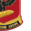 472nd Airborne Field Artillery Battalion Patch Hell From Above   Lower Right Quadrant