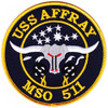 MSO-511 USS Affray Mine Sweeper - Ocean Ship Patch