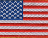 United States Flag Patch Hook and Loop - Center