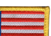 United States Flag Patch Hook and Loop - Top Right