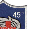 45th Aviation Medical Company Air Ambulance Dustoff Blue Shield Patch | Upper Right Quadrant