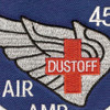 45th Aviation Medical Company Air Ambulance Dustoff Blue Shield Patch | Center Detail