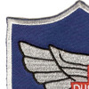 45th Aviation Medical Company Air Ambulance Dustoff Blue Shield Patch | Upper Left Quadrant