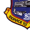 NAES Lakehurst New Jersey 80 Years Patch | Lower Left Quadrant
