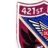 421st Medical Company Air Ambulance Evac 159th Aviation Regiment Patch | Upper Left Quadrant
