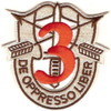 3rd Special Forces Group Crest Desert Red 3 Patch