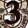3rd Special Forces Group Crest Desert Patch | Center Detail