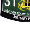 3rd Military Police Group Military Occupational Specialty MOS Rating Patch 31 B Military Police | Lower Left Quadrant