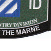 3rd Infantry Division Military Occupational Specialty MOS Patch Rock Of The Marne | Lower Right Quadrant