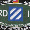 3rd Infantry Division Military Occupational Specialty MOS Patch Rock Of The Marne | Center Detail