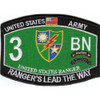 3rd Bn 75th Ranger Regiment Military Occupational Specialty MOS Rating Patch