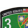 3rd Bn 75th Ranger Regiment Military Occupational Specialty MOS Rating Patch   Upper Left Quadrant