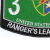 3rd Bn 75th Ranger Regiment Military Occupational Specialty MOS Rating Patch | Lower Left Quadrant
