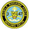 3rd Battalion 47th Infantry Regiment Mobile Riverine Force Patch